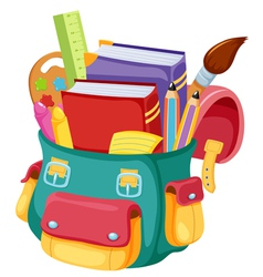 Back to schoolschool bag vector image vector image