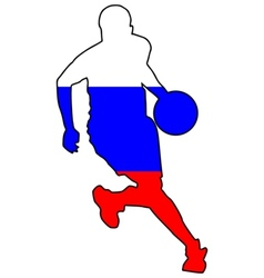 basketball colors of Russia vector image vector image