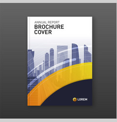 Business brochure cover design layout vector