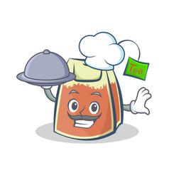 Chef tea bag character cartoon art with vector