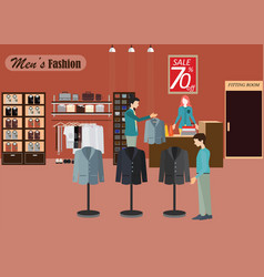 clothing store for men2 vector image vector image
