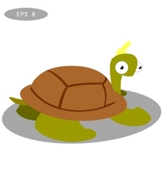 Cute turtle clip art cartoon vector