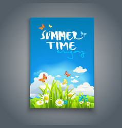 Enjoy summer template vector