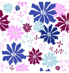 floral seamless white pattern vector image vector image