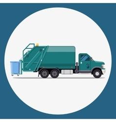 Garbage truck flat modern design vector