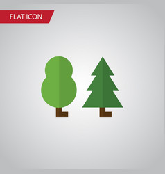 Isolated tree flat icon forest element can vector