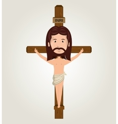 Jesus christ crucifix desing isolated vector