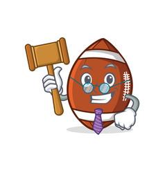 Judge american football character cartoon vector