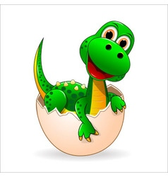 Little cute dinosaur vector