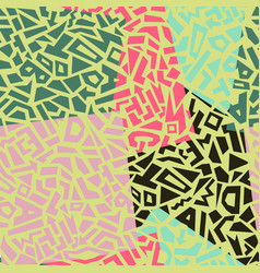 memphis style seamless geometric pattern vector image vector image