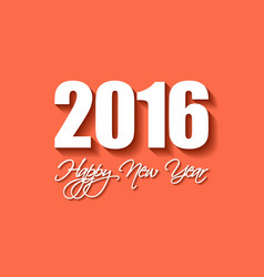 Modern simple happy new year card 2016 vector