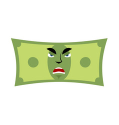money angry emotion cash emoji evil dollar vector image vector image