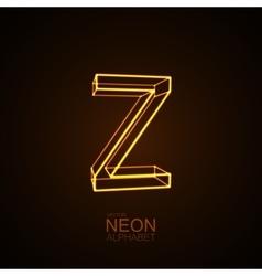 Neon 3d letter z vector