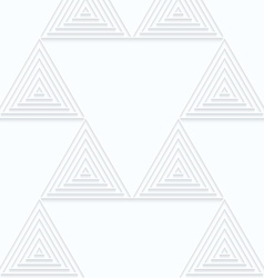 Quilling white paper small triangles with offset vector