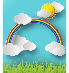 Rainbow on sky vector