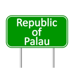 Republic of Palau road sign vector image vector image