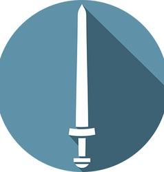Viking Sword Icon vector image vector image