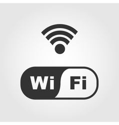Wi fi icons flat design vector image