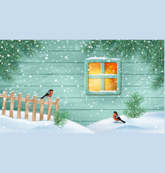 Winter snowy scene vector