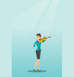 woman playing the violin vector image
