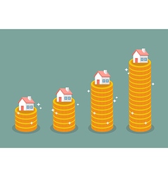 Growth in real estate concept vector