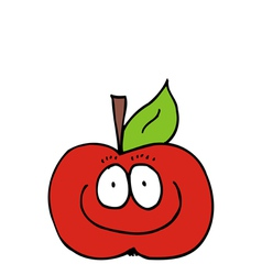 Caricature of apple vector