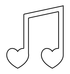 Love song icon outline style vector