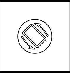 Auto rotation line icon mobile sign vector