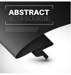 Abstract background with folded black paper vector