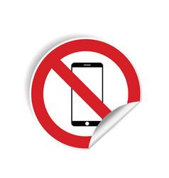No mobile phone sticker vector