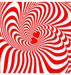 Design hearts swirl movement background vector