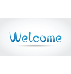 Welcome vector image