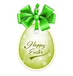 Easter tag vector
