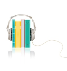 audio books concept vector image