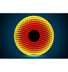 Abstract orange circle vector image