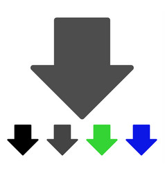 Arrow down flat icon vector