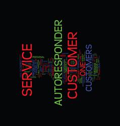 Autoresponder customer service text background vector
