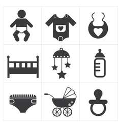 Baby stuff icon vector