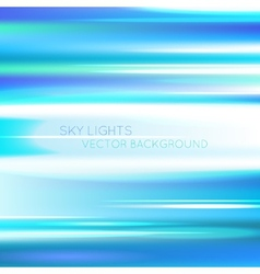 Blurred abstract sky blue background vector