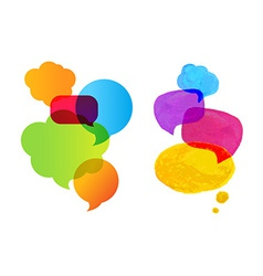 Colorful Speech Bubble Set vector image vector image
