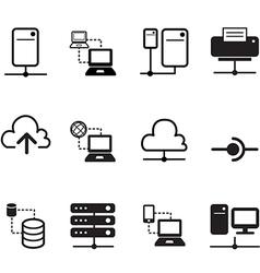 Data sharing hosting server cloud network system i vector