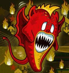 demon cute monster illustration vector image
