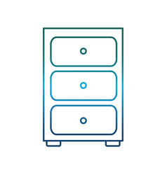 drawers icon vector image