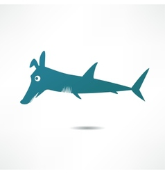 Fish-dog vector image vector image