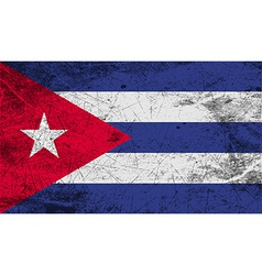 Flag of Cuba with old texture vector image