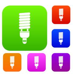 Fluorescent bulb set collection vector