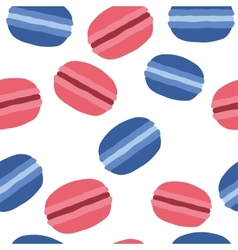 French macaroons dessert pattern on a white vector