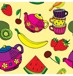 fruity kitchen print vector image vector image