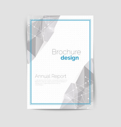 Geometrical brochure A4 vector image