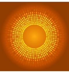 Golden abstract background glowing pixels vector image vector image